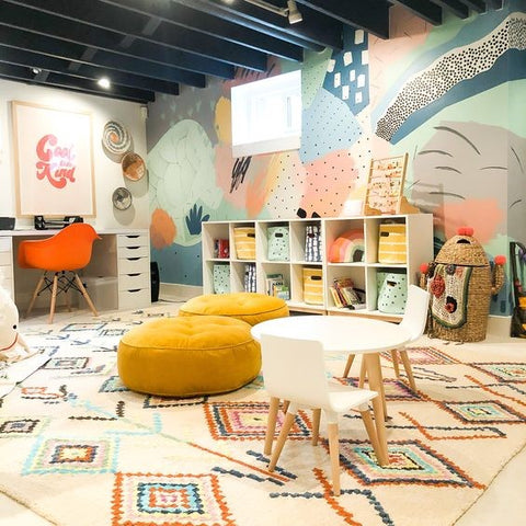 Study and Play Room for Kids Interior Design