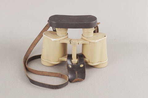 "PERFECT & Complete! Tan 6×30 Binoculars Maker Marked ""cag""."
