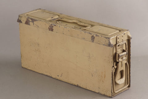 Late war 1944 Tan MG34/42 ammunition box. Maker Marked bdk44