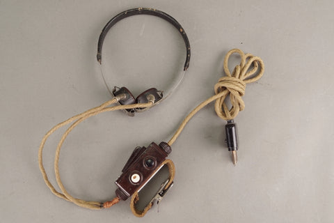 Throat Microphone. First model pre-1938 KMFZ, RARE!