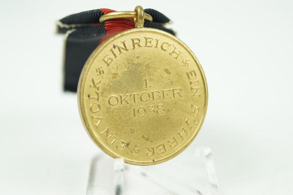 WW2 German 1. Oktober 1938 medal Great condition! - Nordic-Militaria