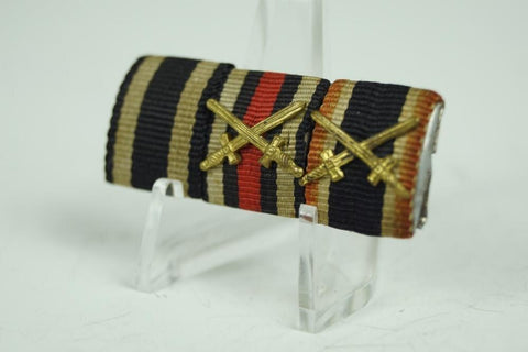 WW1/WW2 German Ribbonbar. Iron Cross, Hindenburg, KvK - Nordic-Militaria