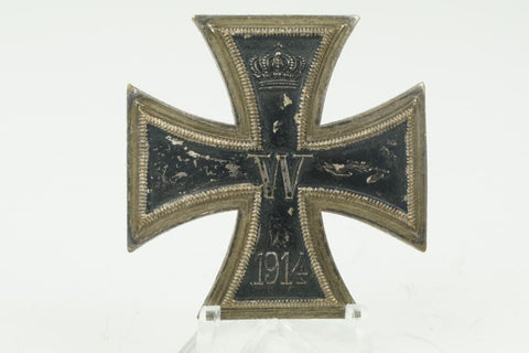 "WW1 German Iron Cross 1. Class ""Eisernes Kreuz 1. Klasse"" One-piece ON SCREW!"