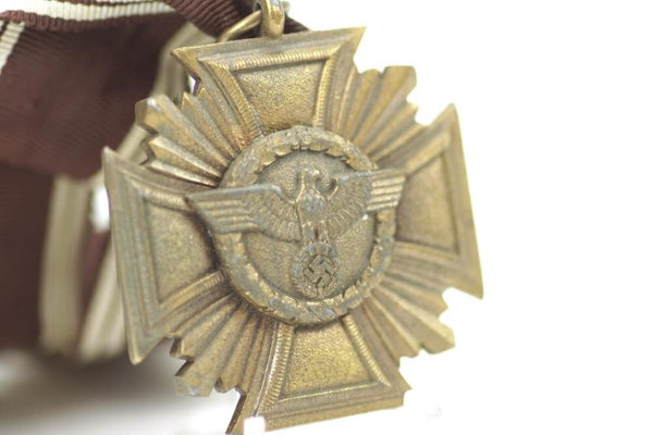 NSDAP Dienstauszeichnung in Bronze. Heavy version. WW2 German