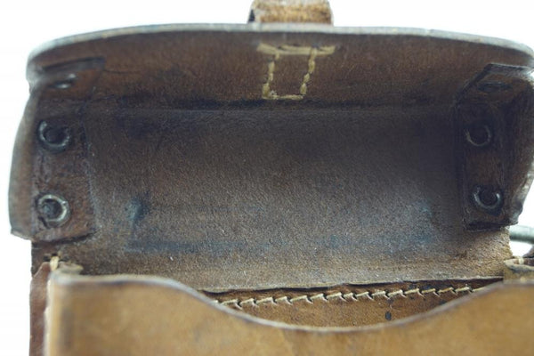 RARE 1945 K43 Magazine pouch. Late-war piece with mixed leather material. WW2 German