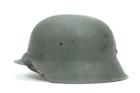 Superb Late War M42 Helmet, with division and initials. WW2 German