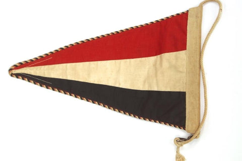 Tricolor Early Wehrmacht Car Pennant. WW2 German