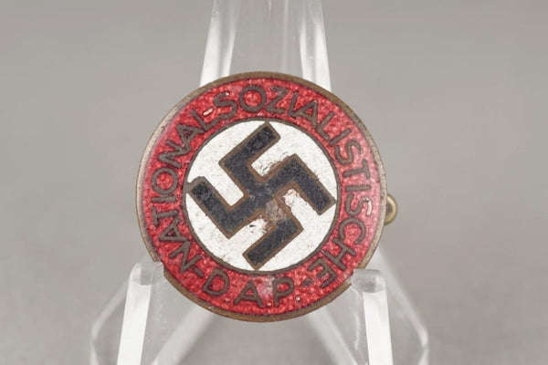 NSDAP members pin. RZM M1/101. WW2 German