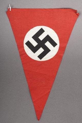 NSDAP Double sided Pennant. WW2 German