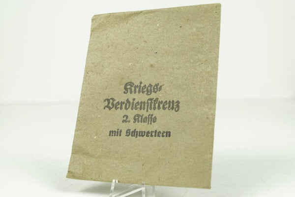 WW2 German Kriegsverdienstkreuz w. Swords 2. Class Paper bag (Steinhauer)