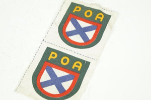 "Wehrmacht ""POA"" Ärmelschild (Russischen Befreiungsarmee). UNUSED AND MINT! WW2 German - Nordic-Militaria"