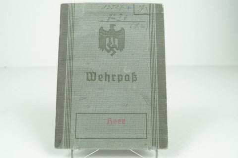 Zollgrenzschutz Wehrpass. Many entries and hard to find entries. WW2 german