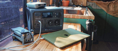 macbook_charging_with_Bluetti_EB55_Power_Station_charging