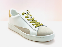 Load image into Gallery viewer, Evelyn  trainers white and gold