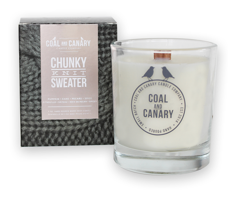 Coal & Canary Chunky Knit Sweater Candle