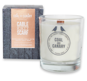 Coal & Canary Cable Knit Scarf Candle