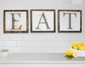 "Coco Kisses ""Eat"" sign"