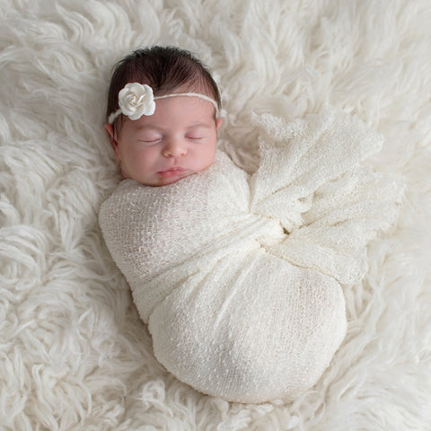 Baby sleeping after swaddling