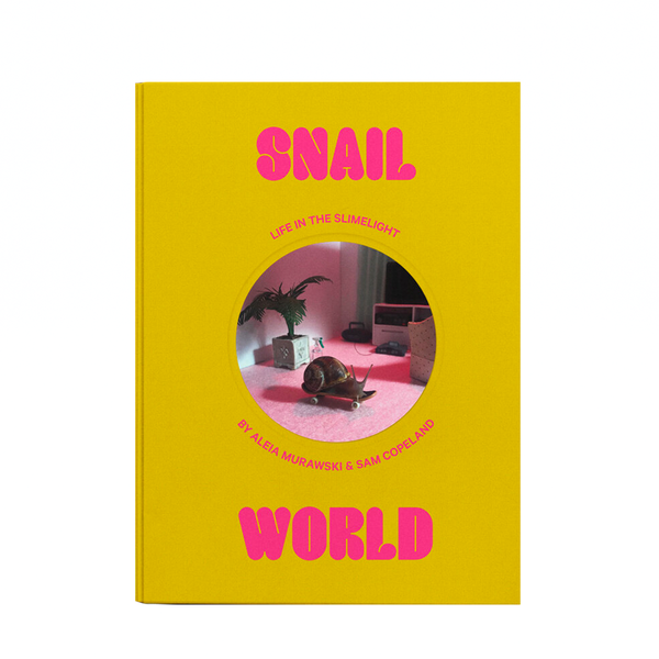 Snail World: Life in the Slimelight is a collection of absorbing snapshots from an alternate universe where snails drink bubble tea at the mall, hit tiny bongs, and get beamed up into flying saucers.