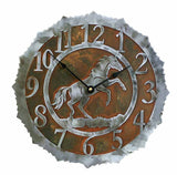 "CL-5035 - Rearing Horse 12"" Clock"