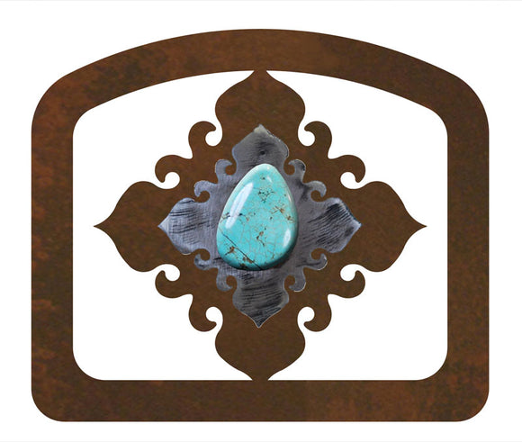 LNH-1653 - Turquoise Stone Letter Holder