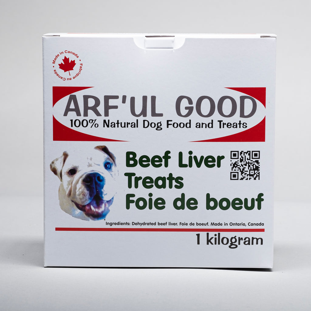 Dehydrated 100% Canadian beef liver. Beef Liver Treats 1 Kg. box