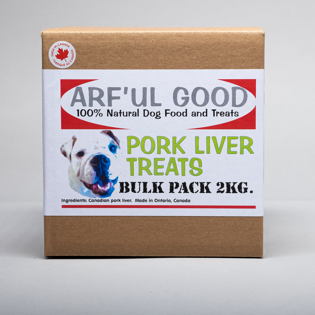 Dehydrated Pork Liver. Pork Liver Treats Bulk Pack 2 Kg. box