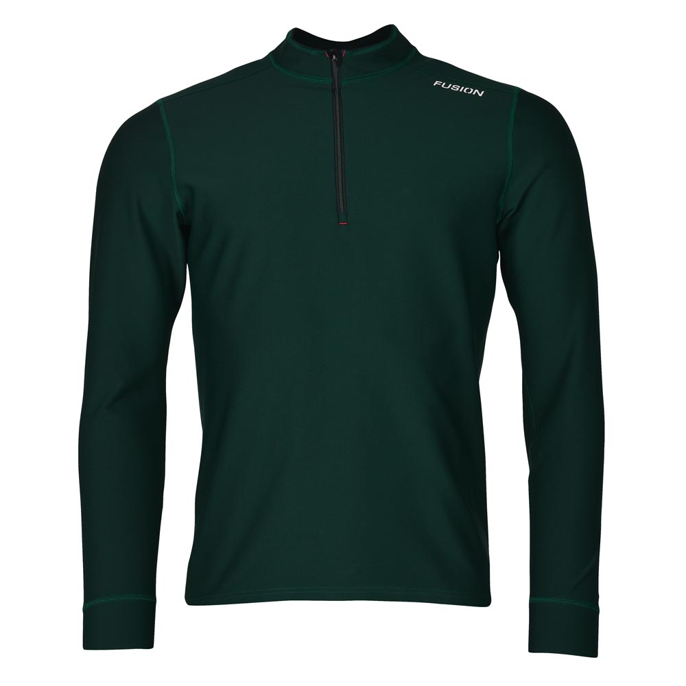 MENS C3 ZIP NECK, GREEN