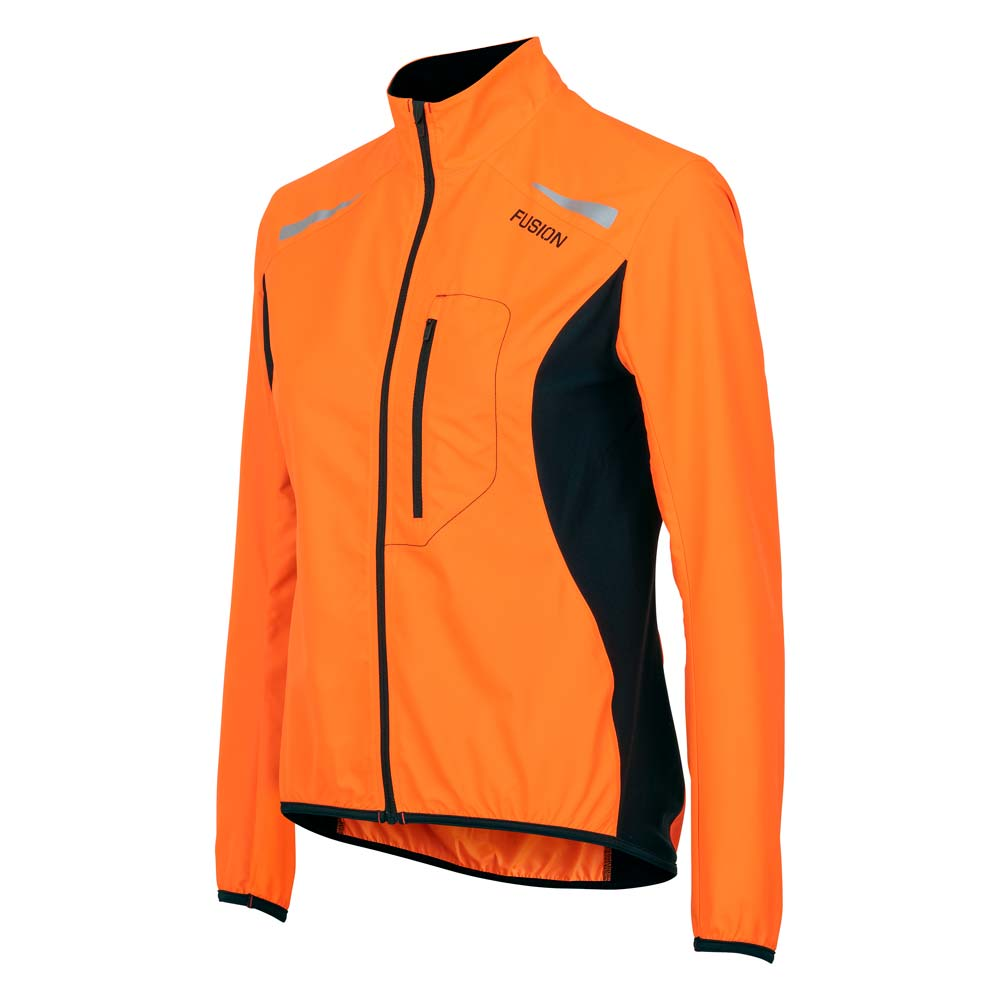 S1 RUN JACKET WOMENS, ORANGE