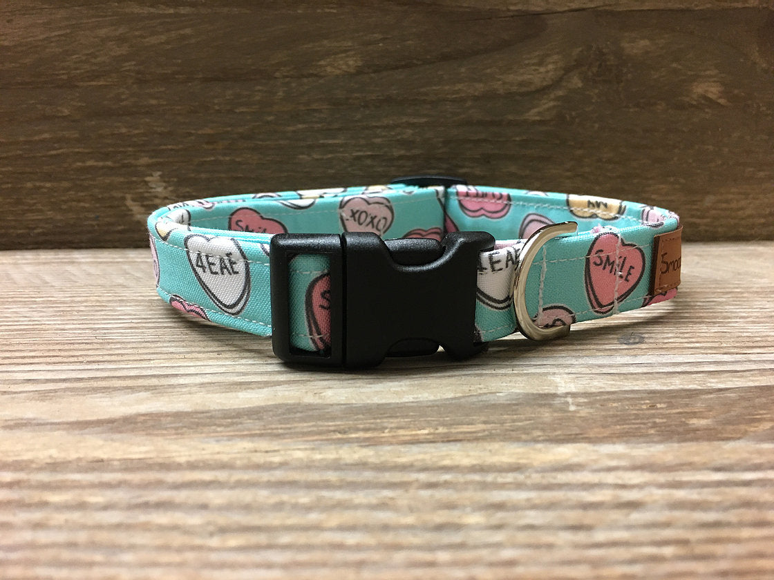 Blue Love Heart Collar
