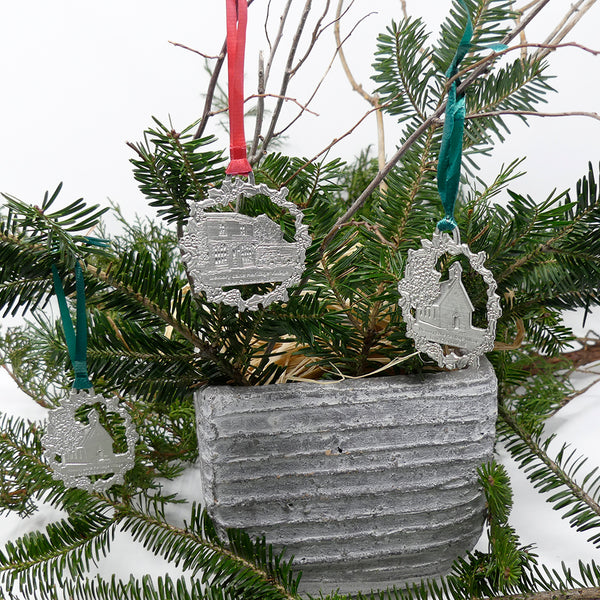 Memory Lane Pewter Ornaments