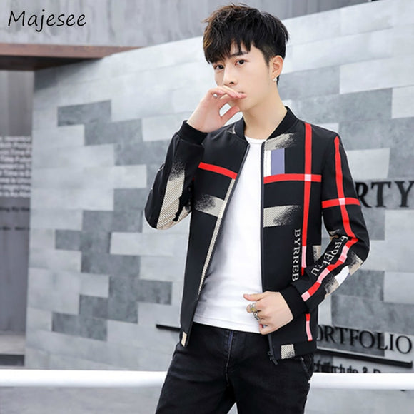 Jacket Men Zipper Long Sleeve Plus Size Mens Jackets and Coats Korean Style High Quality Males Casual Slim Fit Clothes Fashion