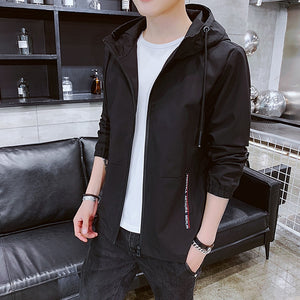 Jacket Men Letter Autumn High Quality Males Hot Sale Clothes Mens Jackets and Coats Students Plus Size Zipper Black Coat Daily