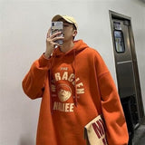 Men with Hat Hoodies Plus Size 3XL Rainbow Print Males Leisure Chic Trendy Loose Street All-match Outwear New Sweatshirts Simple