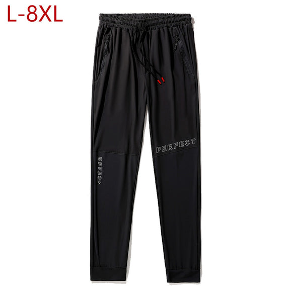 Summer Men's Sweatpants Thin Tracksuit Male Joggers Pants Overalls Track Trousers Men Clothing Big Size 4XL 5XL 6XL 7XL 8XL