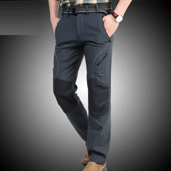 ICPANS Winter Pants Men Thicken Fleece Straight Long Trousers Military Army Green Casual Menn's Pants Brand Clothing