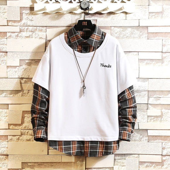Japan Style Casual O-Neck 2020 Hoodie Sweatshirt Men'S Thick Fleece Style Hip Hop High Streetwear Clothing