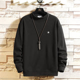 Japan Style Casual O-Neck 2021 Black Hoodie Sweatshirt Men'S Thick Fleece Style Hip Hop High Streetwear Clothing
