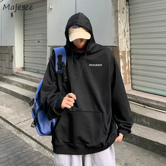 Men with Hat Hoodies Loose Hip Hop Fashion Letter Print Couple Plus Velvet Leisure Korean Style Male Hooded Ulzzang Streetwear