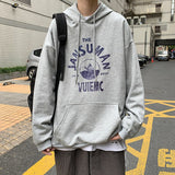 Men with Hat Hoodies Sweatshirts Plus Size 3XL Print Couple Handsome Cool Trendy Males Leisure Chic Outwear Street All-match New