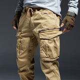 ICPANS Ankle Length Cargo Pants Men Joggers Elastic Waist Zipper Many Pockets Black Army Military Pants Streetwear Fashion