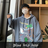 Men with Hat Hoodies Hip Hop Letter Print Male Hooded Chic Stylish Korean Style All-match Students Designed Ulzzang Loose Casual