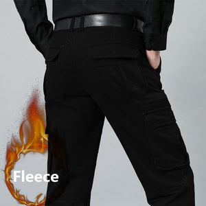 Big Size 29- 44 46 48 Thick Warm Fleece Cargo Pants Men  Winter Mens Pants Military Tactical Army Men Trousers swat pants