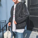 Men Jacket Printed Zipper Plus Size Streetwear Harajuku Clothes Korean Fashion Clothing Black Coat Mens Jackets and Coats Soft