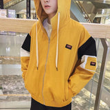 Jackets Men 2020 Hooded Zipper Loose Simple All-match Korean Style Harajuku Jacket Mens Printed Trendy Daily Ulzzang Coats Chic