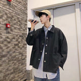 Men Jackets Denim Solid Retro Vintage Bf Korean Style Oversize 3XL Loose Male Jacket Chic Trendy Leisure Simple All-match New