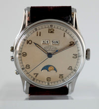 Load image into Gallery viewer, Angelus Datoluxe Triple Date Moonphase in Stainless Steel