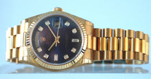 Load image into Gallery viewer, Rolex Day Date Yellow Gold with Blue Dial New Old Stock