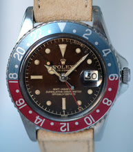 Load image into Gallery viewer, Rolex GMT Ref. 1675 PCG Exclamation Tropical