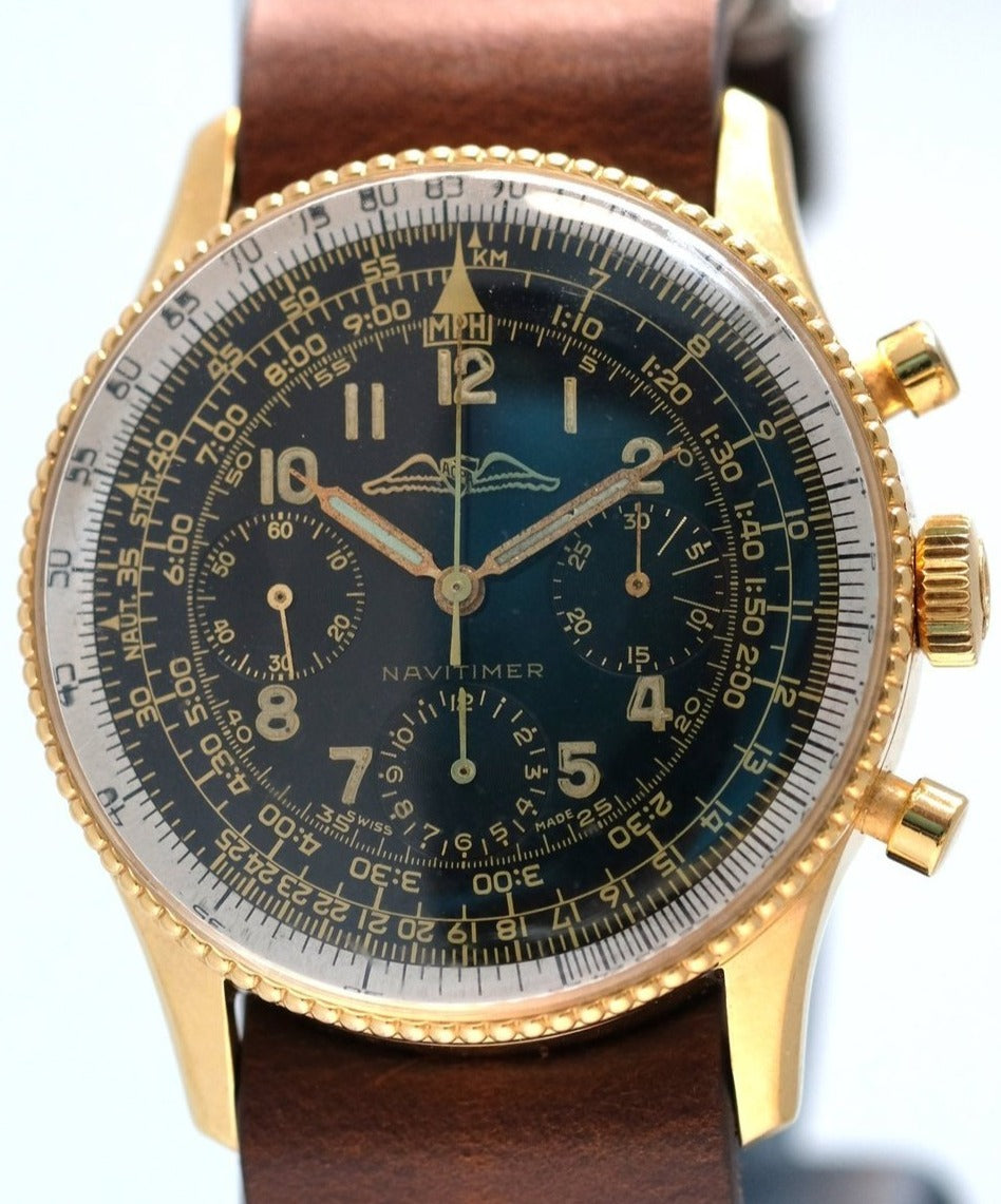 Breitling Early AOPA Navitimer Beaded with Gilt Dial Ref. 806